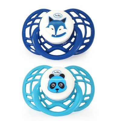 זוג מוצצי סיליקון – Flawless™ Air – 2 pc Silicone Pacifier in Case