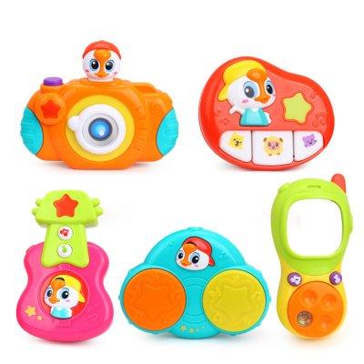 צעצועים מעורבים לעגלה – Stroller Bar Musical Toy Sets 5 Pcs In Box