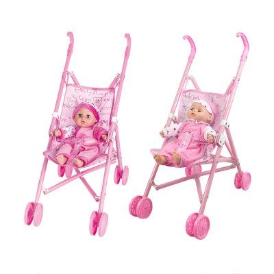 בובה רכה עם עגלת פלסטיק – Soft Baby With Plastic Buggy