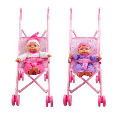 בובה רכה עם עגלת מתכת – Soft Baby With Metal Buggy