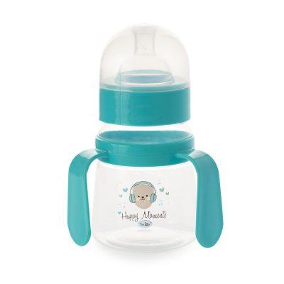 """בקבוק רחב עם ידיות אחיזה 150 מ""""ל – Flawless™ Wide Neck Bottle With Handle"""
