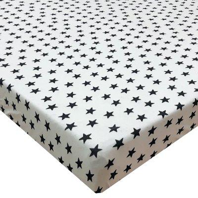 """סדין טריקו ג'רסי מודפס למיטת תינוק/מעבר 130/70 ס""""מ"""