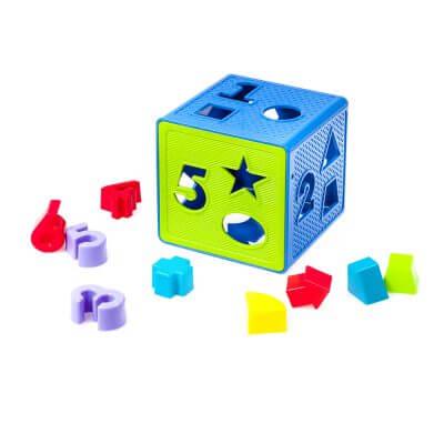 התאם צורה קוביה – 18 חלקים