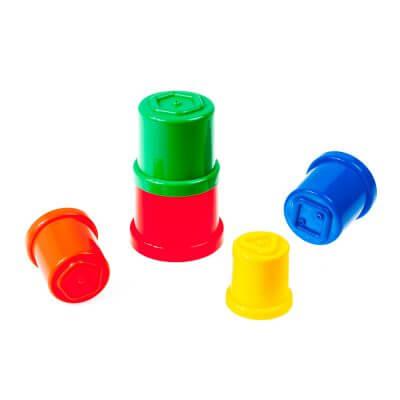 מגדל כוסות צורות – 5 חלקים