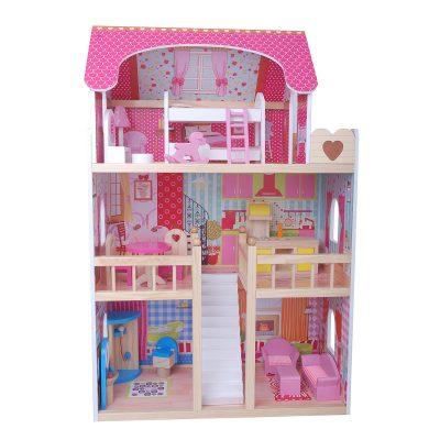 בית בובות מעץ דגם קורל