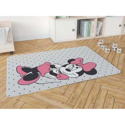 שטיח פלנל מודפס רך ונעים למגע לחדרי ילדים  – מיני מאוס