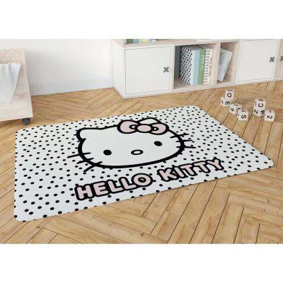 שטיח פלנל מודפס רך ונעים למגע לחדרי ילדים – הלו קיטי