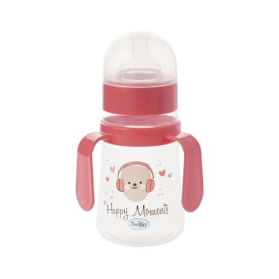 """בקבוק רחב עם ידיות אחיזה 250 מ""""ל – Flawless™ Wide Neck Bottle With Handle"""