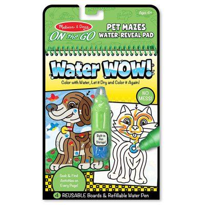 חוברת טוש המים – מבוך חיות מחמד