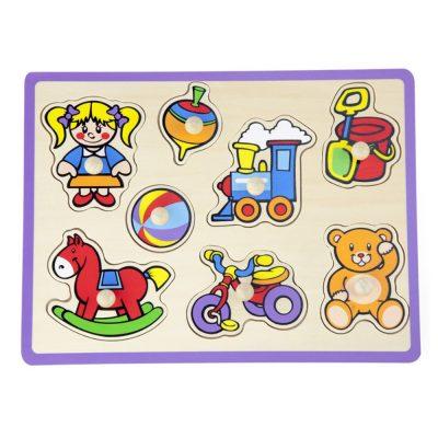 פאזל כפתורי עץ צעצועי תינוקות