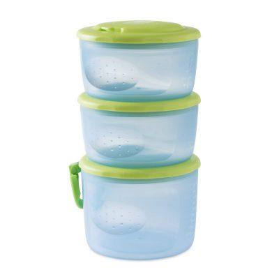 קופסא לאחסון מזון 3 חלקים – Food Containers System