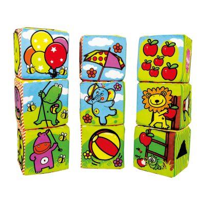 קוביות משחק רכות 9 יחידות – Smart Activity Blocks 9 Pcs Set